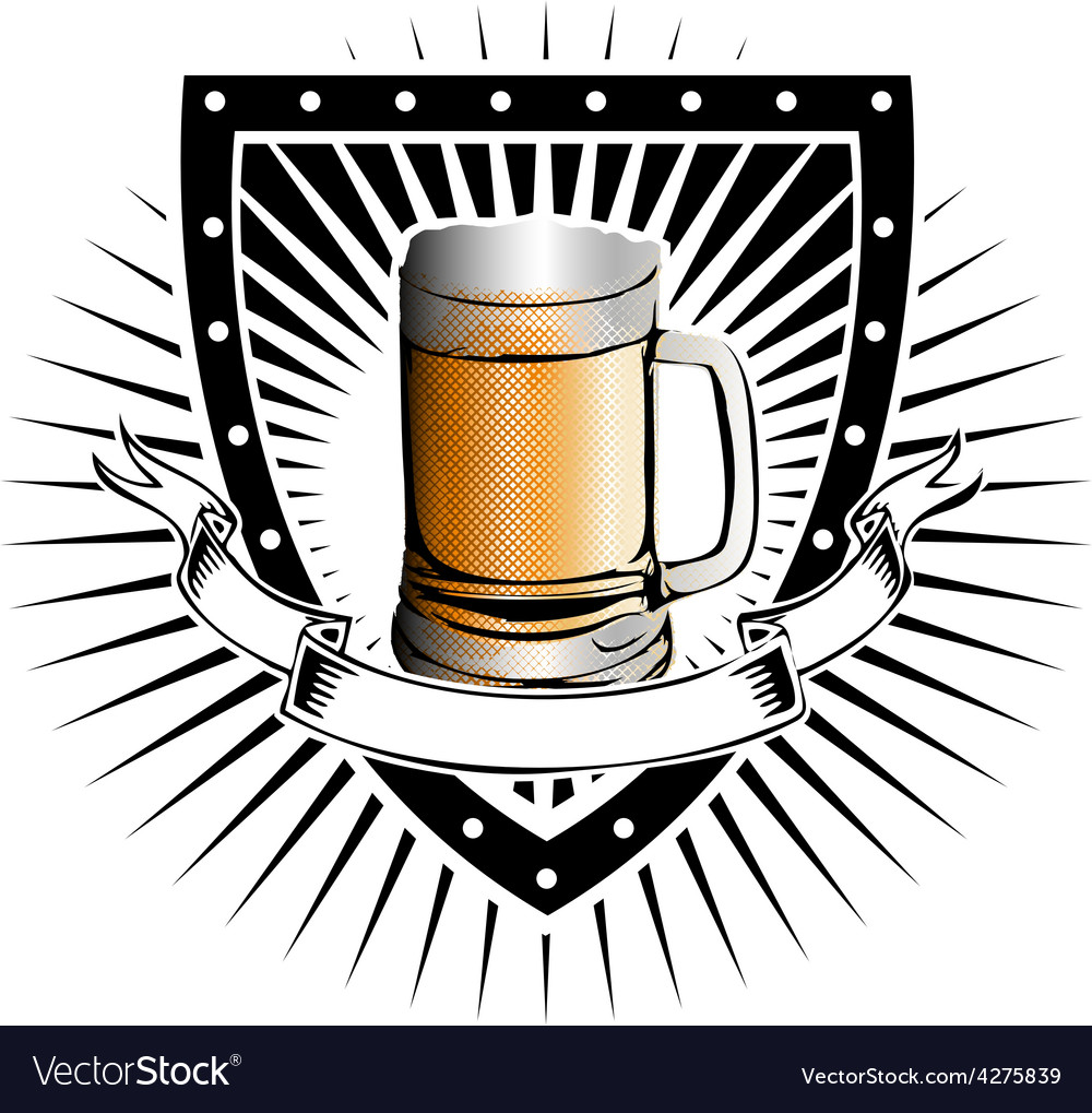 Beer shield vector | Price: 1 Credit (USD $1)