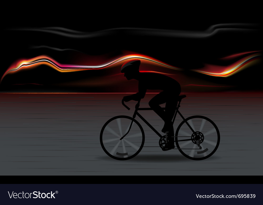 Bicycle ryder silhouette vector | Price: 1 Credit (USD $1)