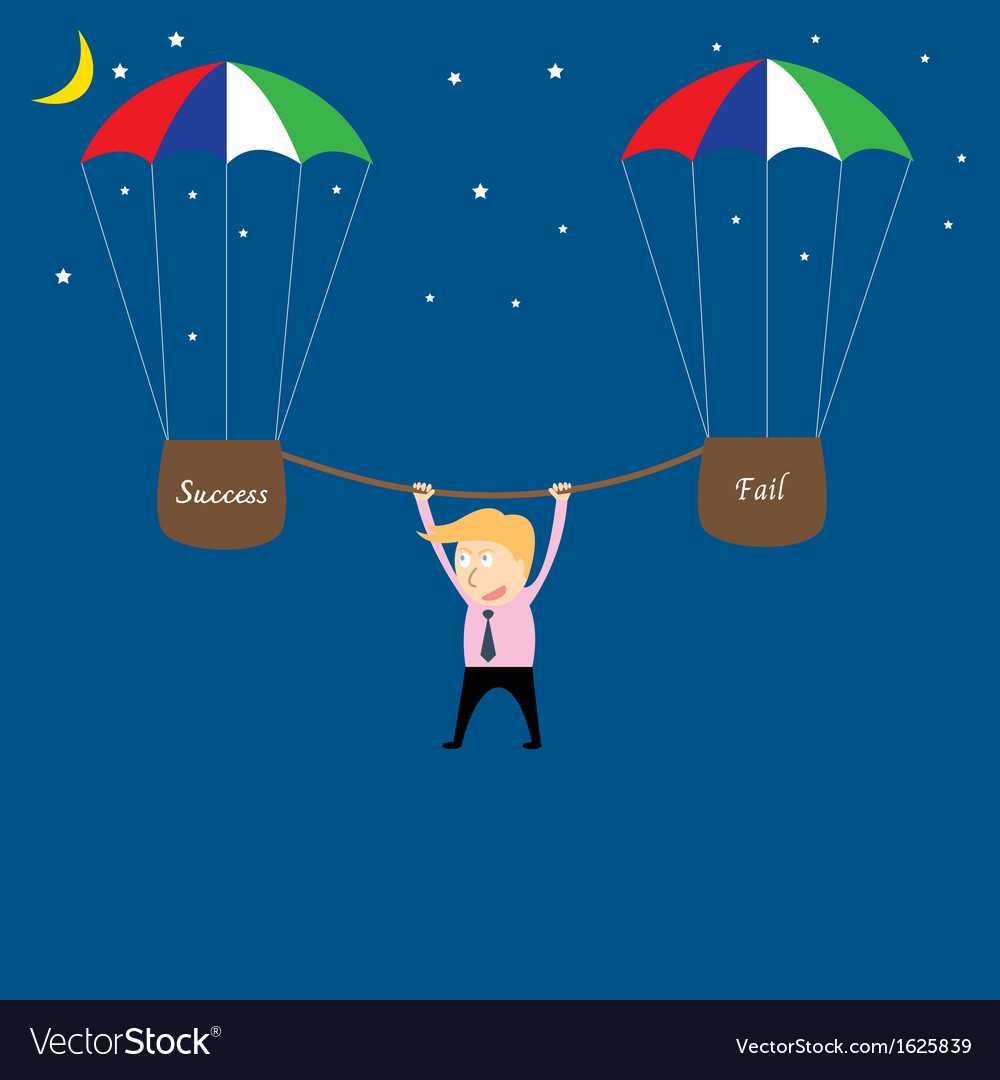 Business man hanging from rope vector | Price: 1 Credit (USD $1)