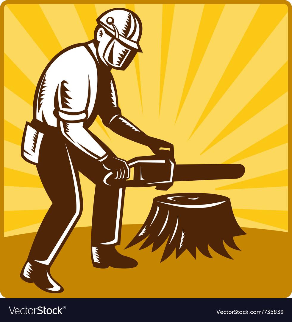Chainsaw lumberjack vector | Price: 1 Credit (USD $1)