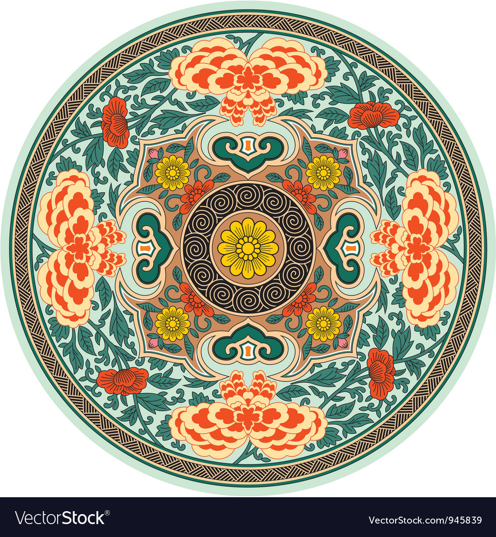 Chinese traditional pattern rosette vector | Price: 1 Credit (USD $1)