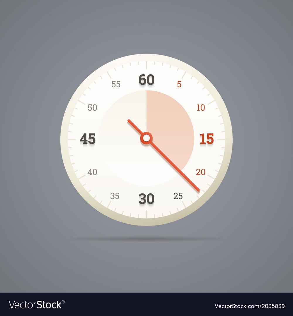 Chronometer icon in eps10 vector | Price: 1 Credit (USD $1)