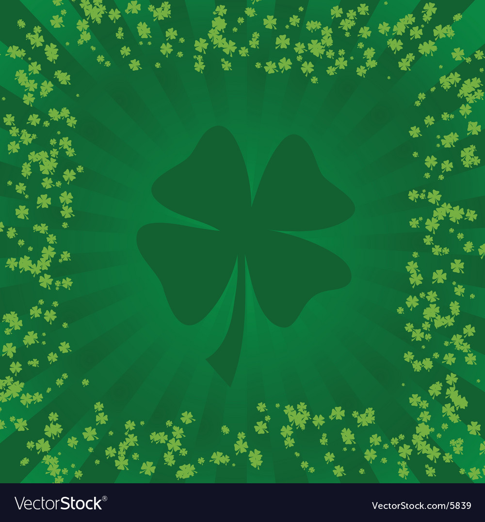 Clover background vector | Price: 1 Credit (USD $1)