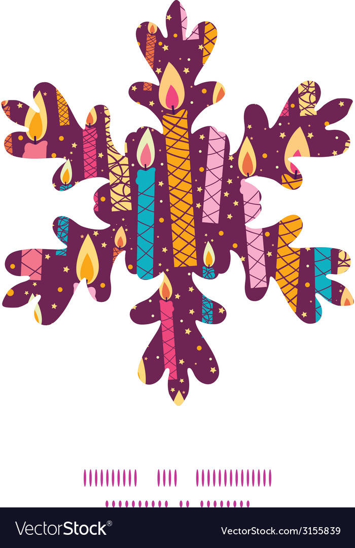 Colorful birthday candles christmas snowflake vector | Price: 1 Credit (USD $1)