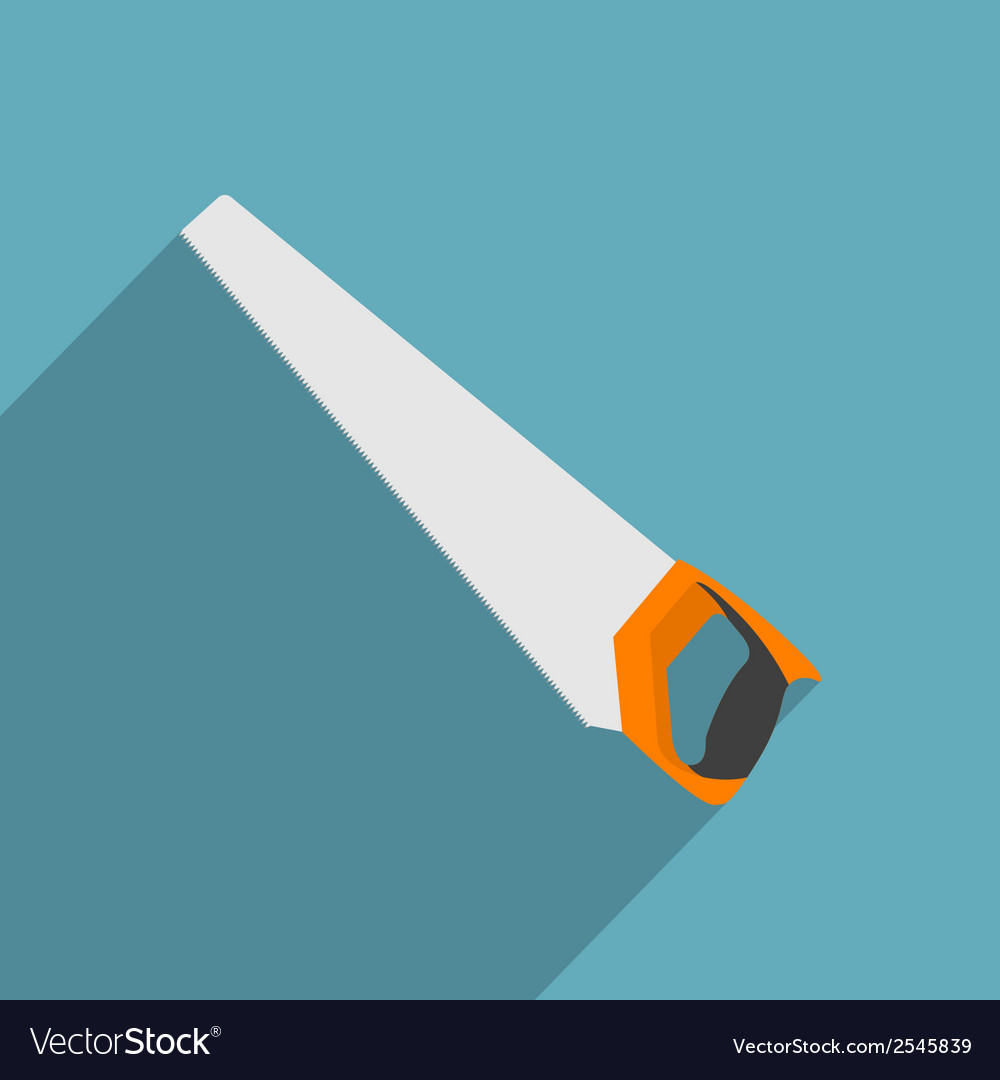 Flat handsaw vector | Price: 1 Credit (USD $1)