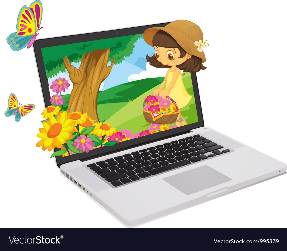 Laptop display vector | Price: 1 Credit (USD $1)