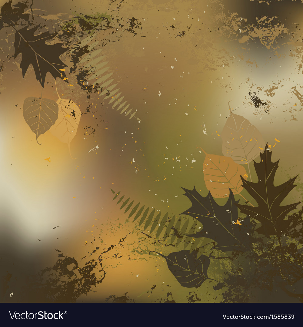 Leaf autumn - background vector | Price: 1 Credit (USD $1)