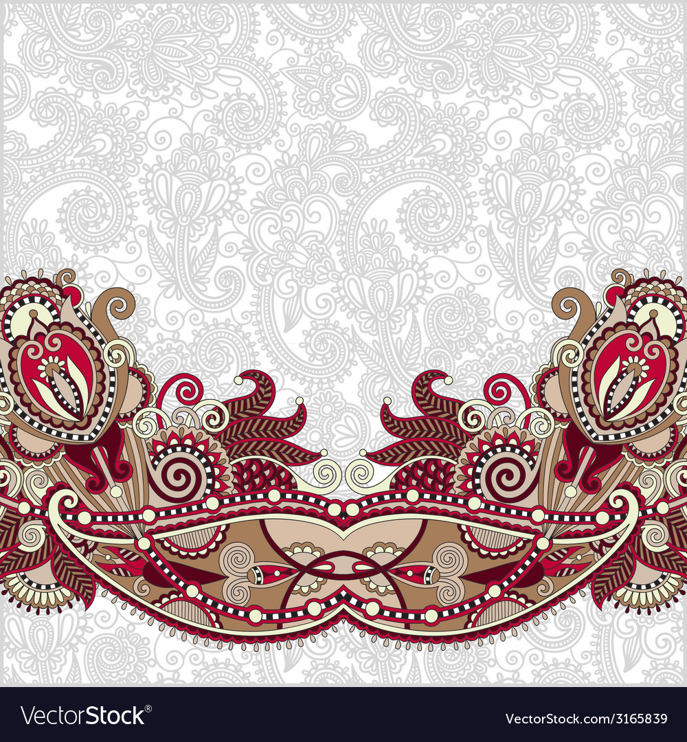 Paisley design on decorative floral background for vector | Price: 1 Credit (USD $1)