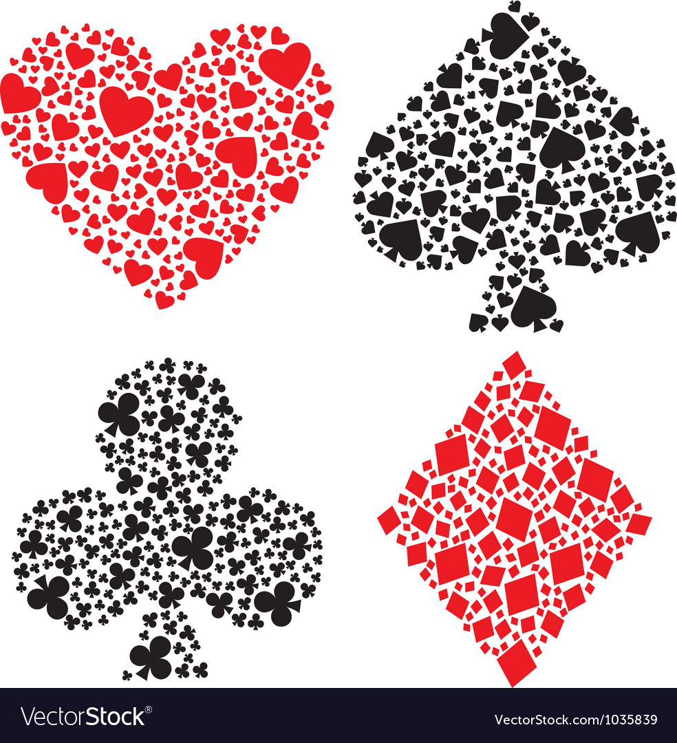 Playing card suits vector   Price: 1 Credit (USD $1)