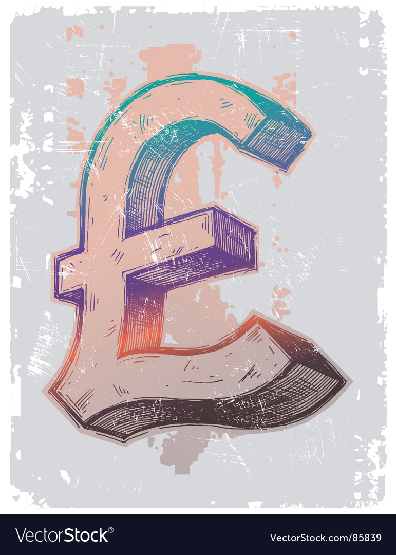 Sign on pound sterling vector | Price: 1 Credit (USD $1)