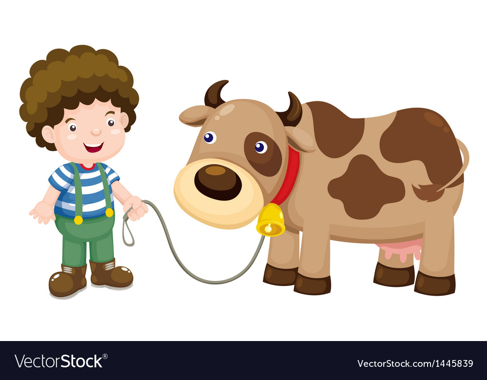 Young cattle and cow vector | Price: 1 Credit (USD $1)