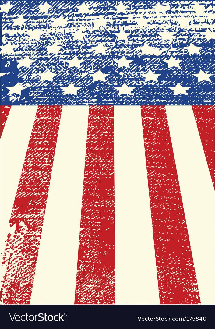 American grunge flag vector | Price: 1 Credit (USD $1)
