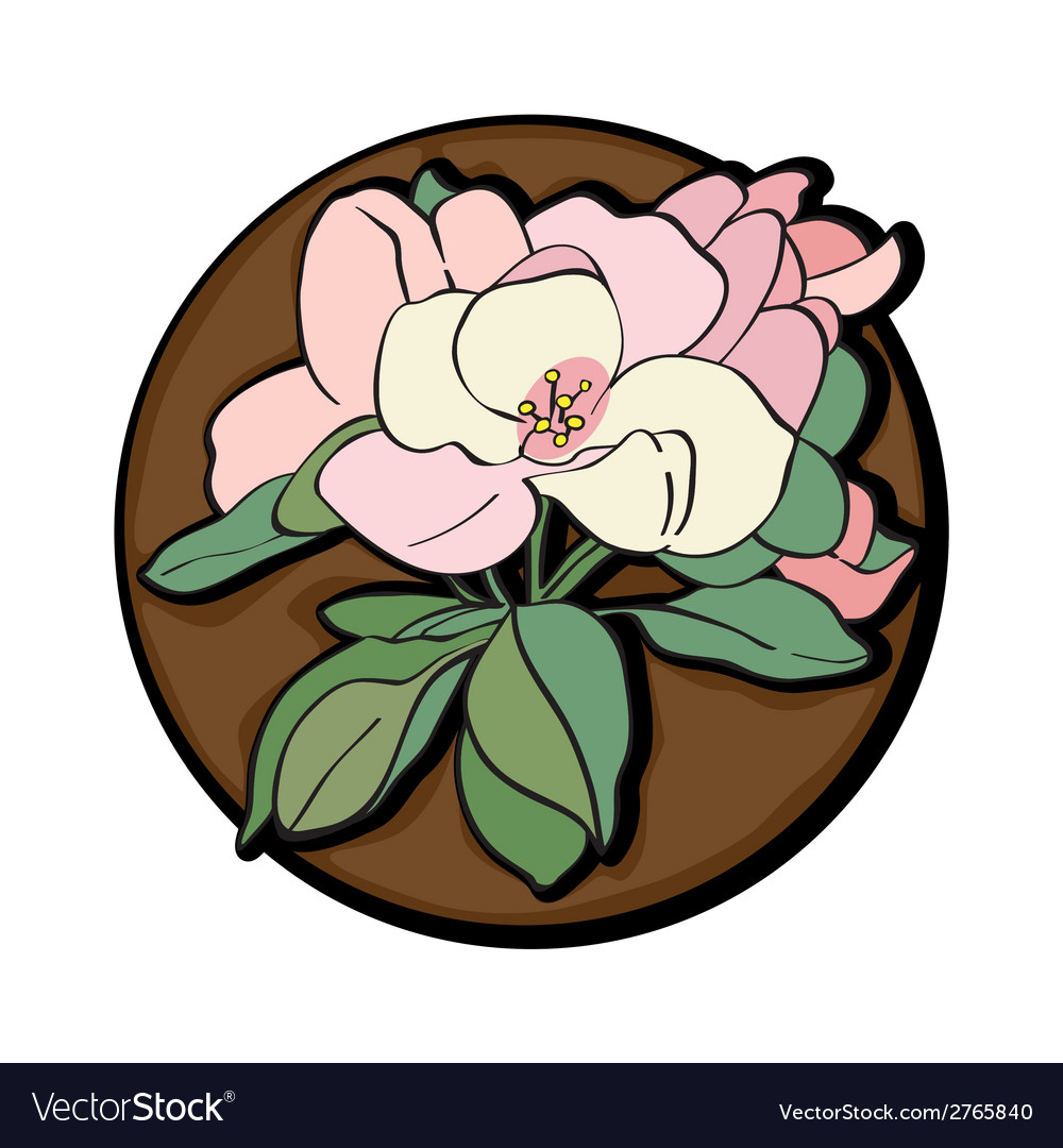 Apple flower clip art brown vector | Price: 1 Credit (USD $1)