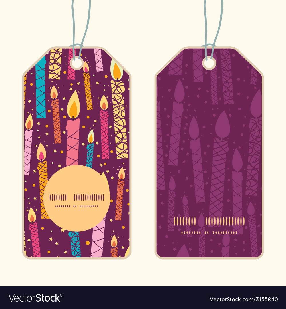 Colorful birthday candles vertical round frame vector | Price: 1 Credit (USD $1)