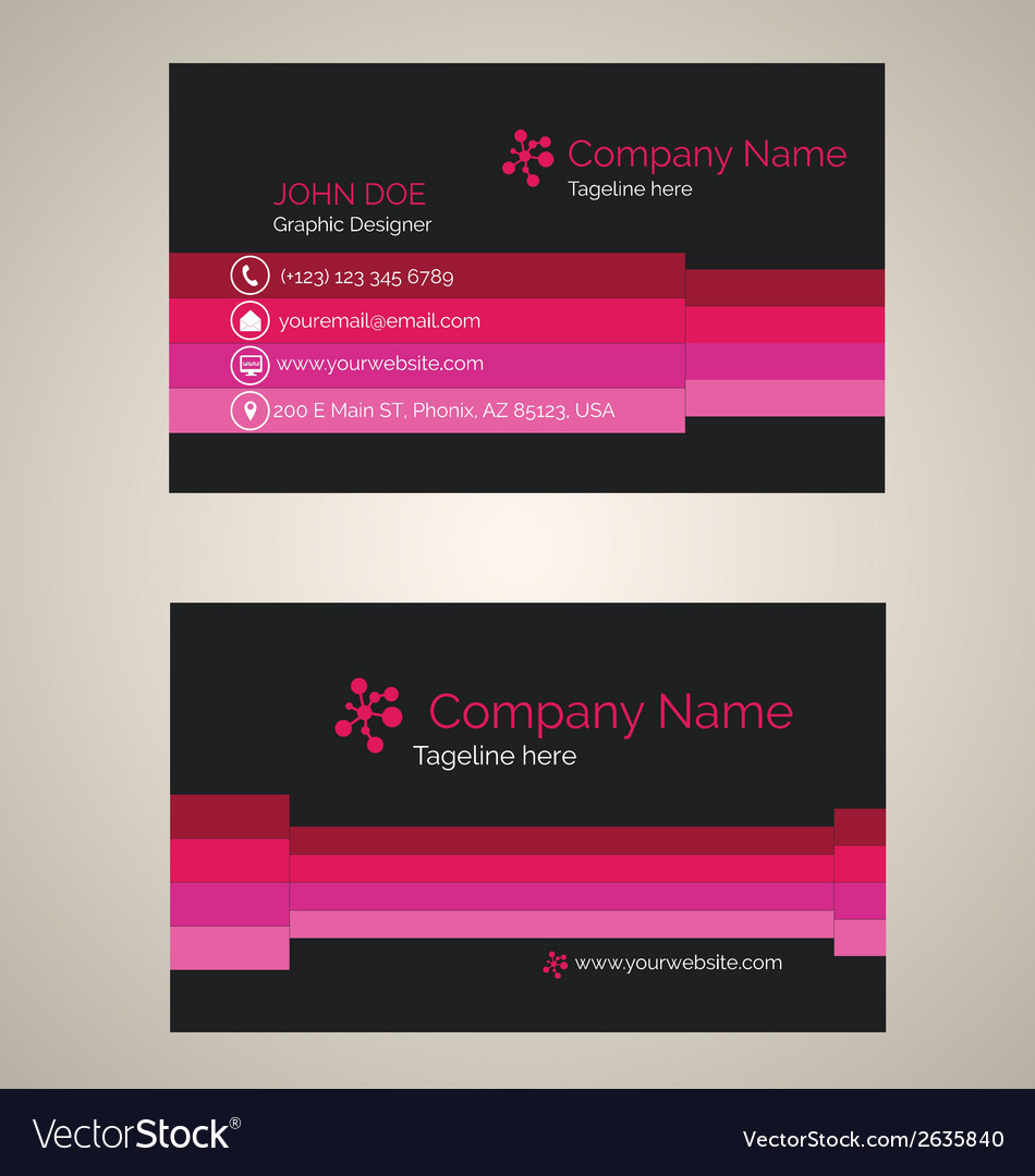 Corporate business card v 1 vector | Price: 1 Credit (USD $1)