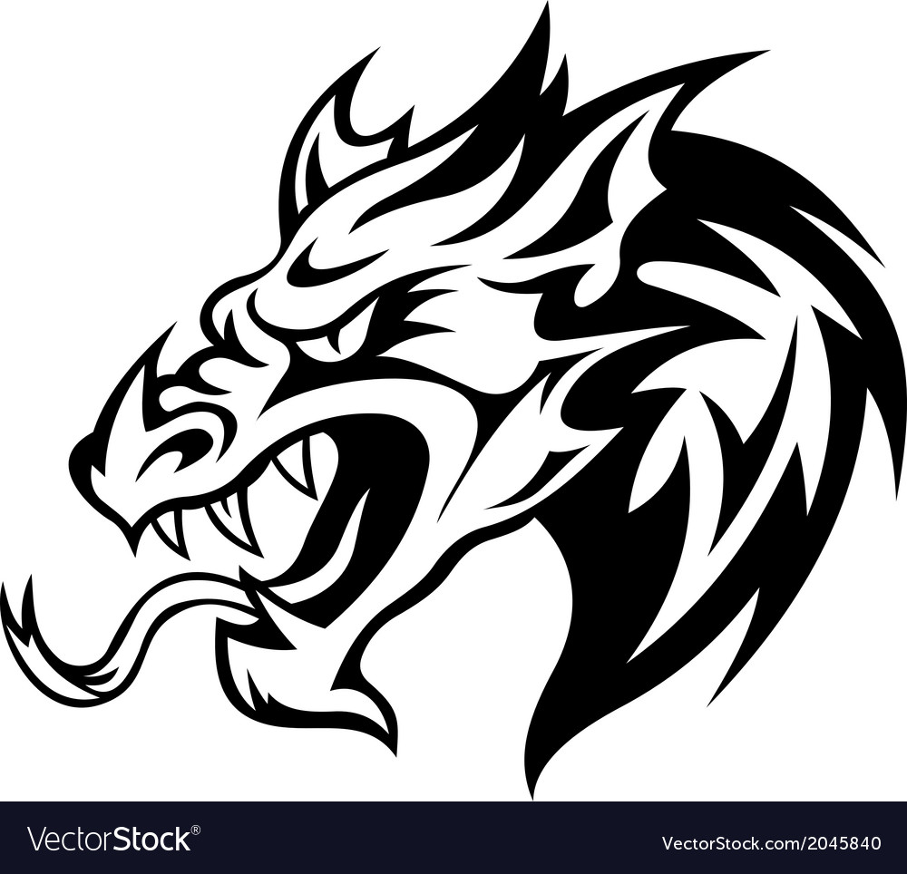 Danger dragon vector | Price: 1 Credit (USD $1)