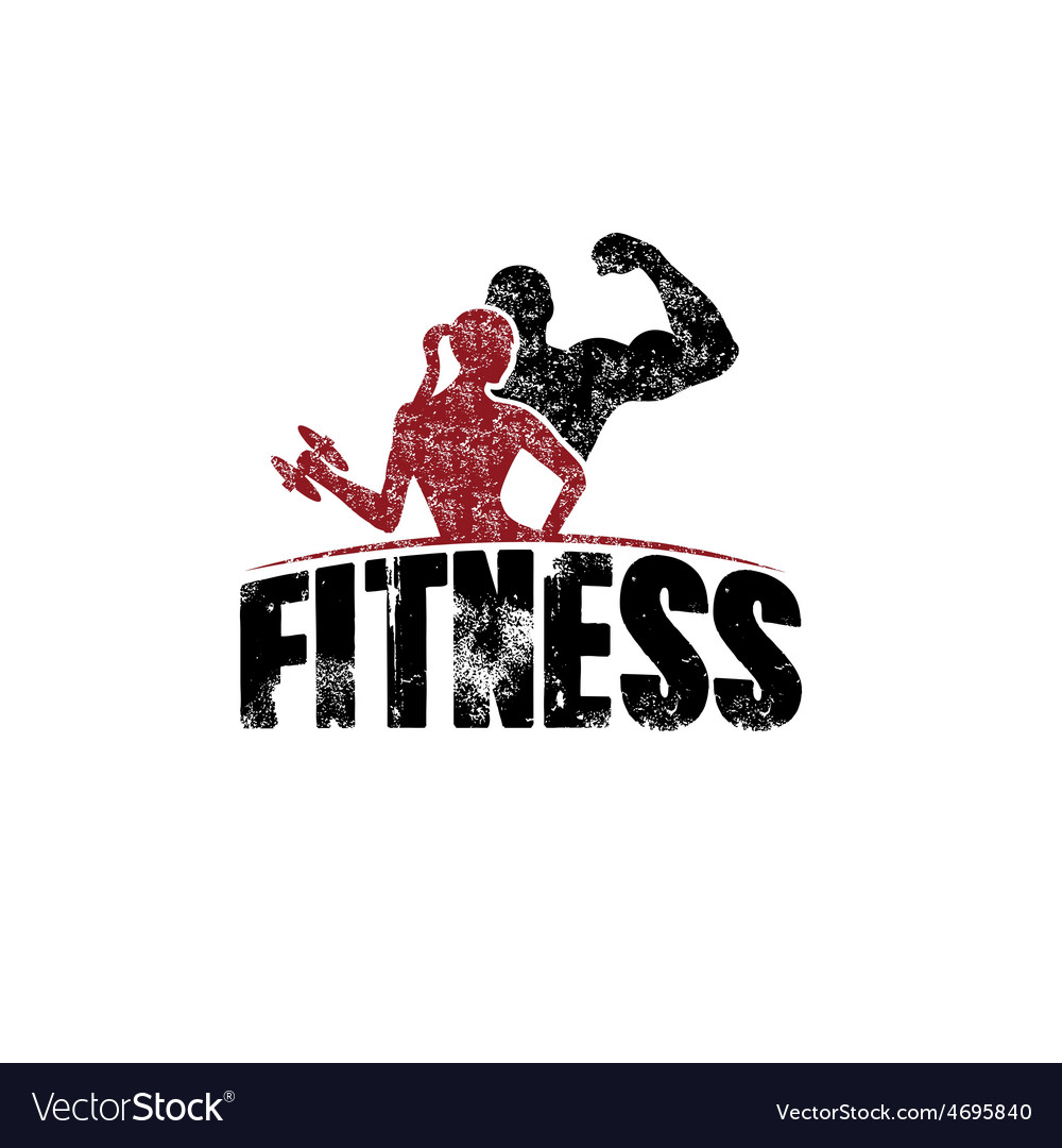 Gunge man and woman of fitness silhouette vector | Price: 1 Credit (USD $1)