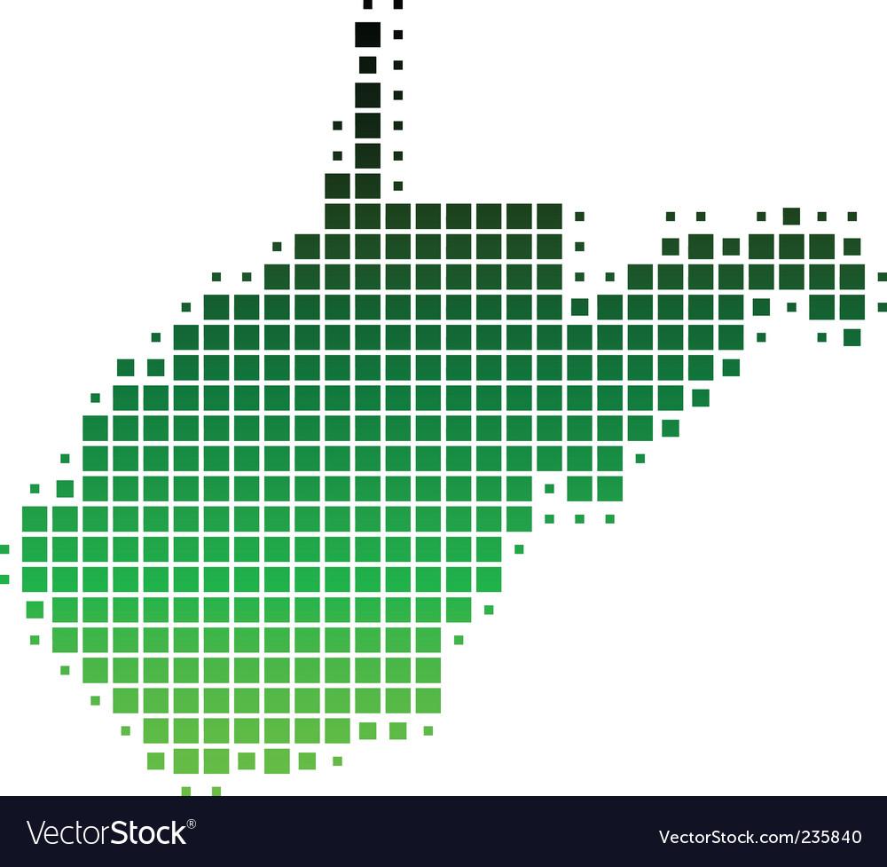 Map of west virginia vector | Price: 1 Credit (USD $1)