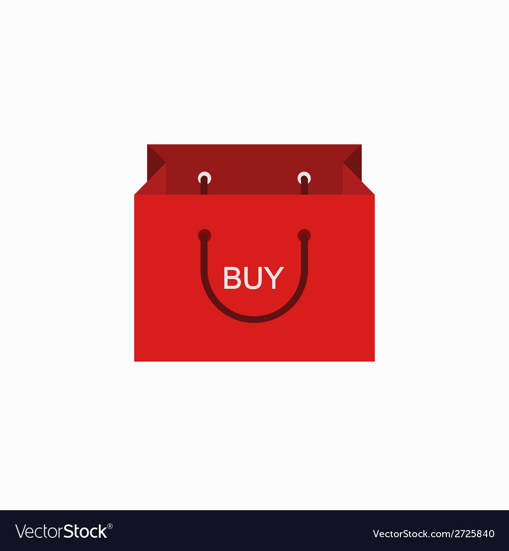 Modern shopping buy icon on white vector | Price: 1 Credit (USD $1)