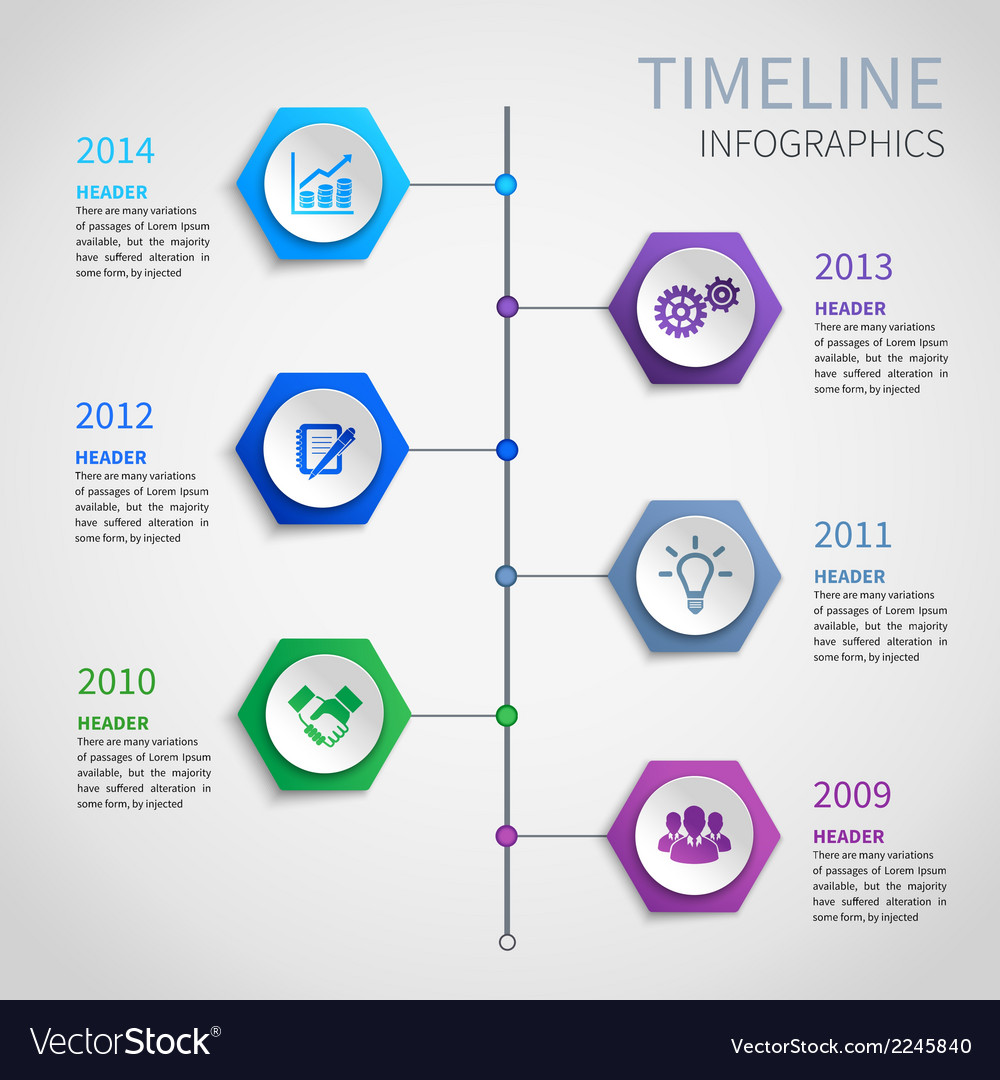 Paper timeline infographics vector | Price: 1 Credit (USD $1)