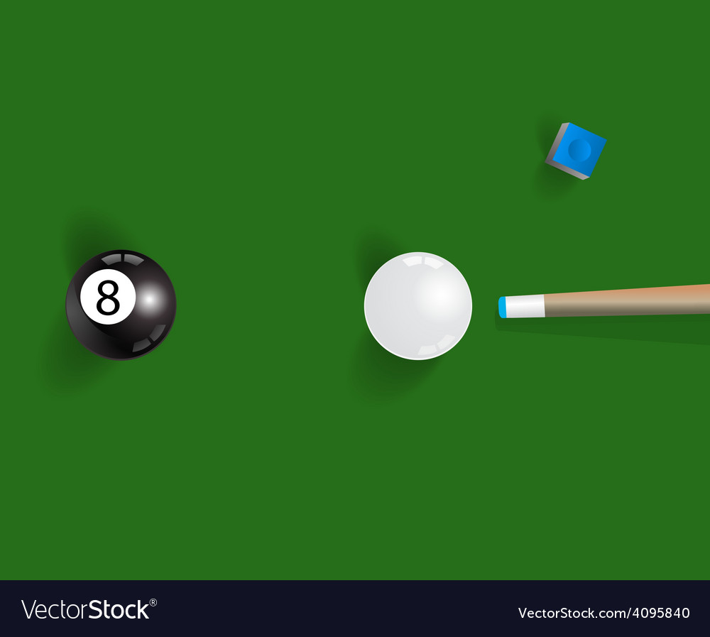 Pool table background with white and black pool vector | Price: 1 Credit (USD $1)