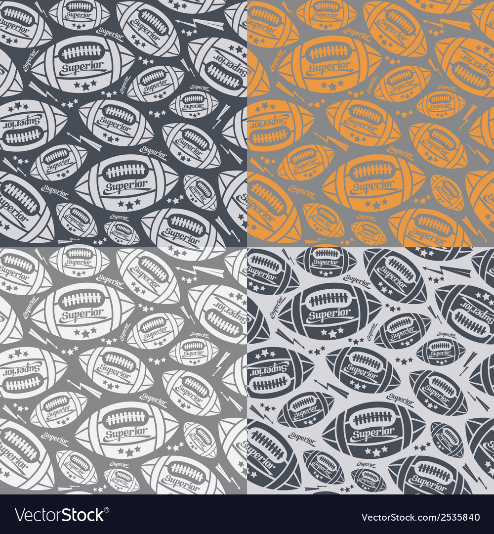 Seamless pattern rugby ball vector | Price: 1 Credit (USD $1)