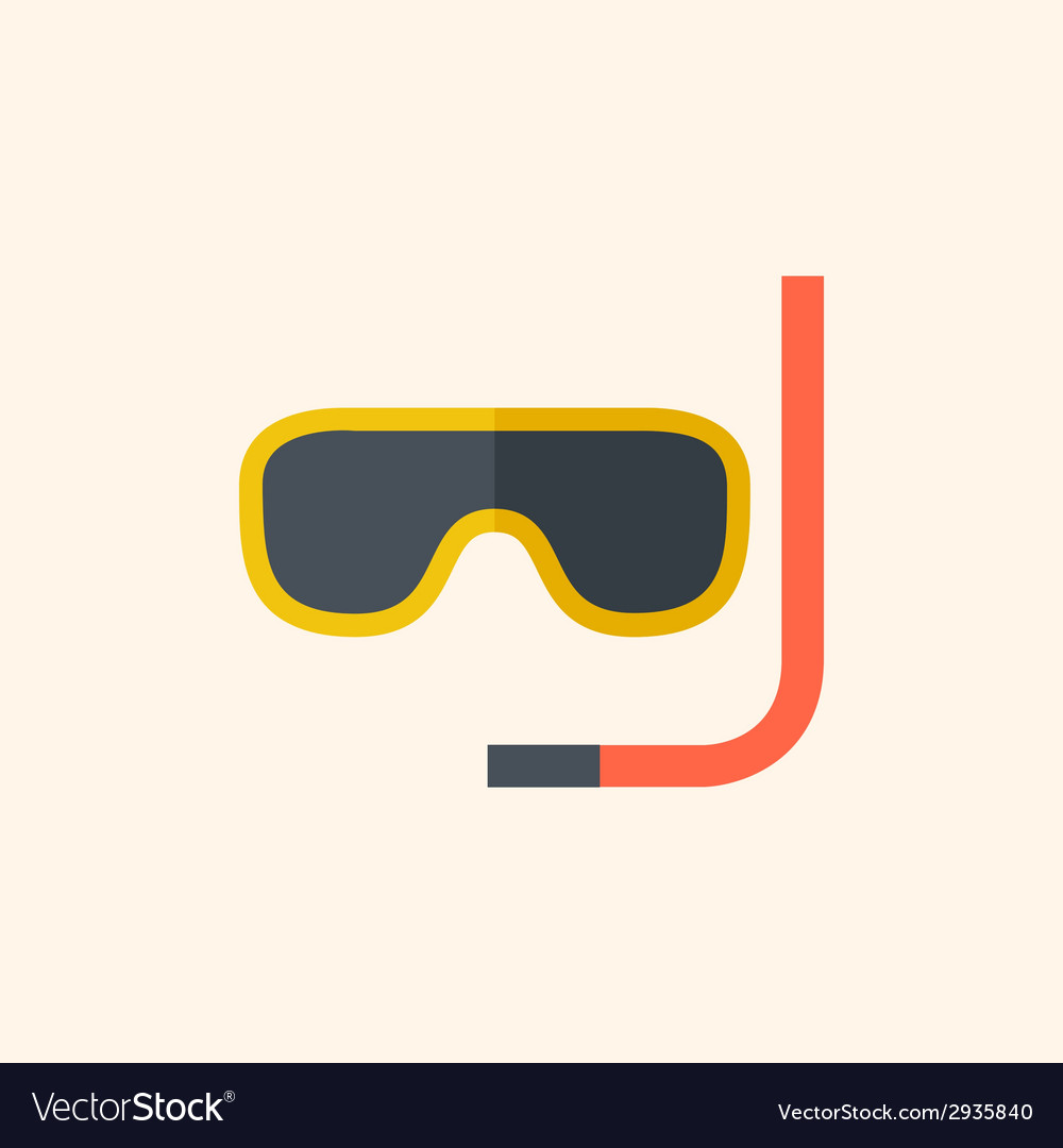 Snorkeling travel flat icon vector | Price: 1 Credit (USD $1)