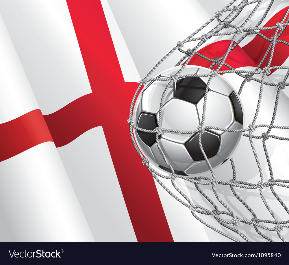 Soccer goal and england flag vector | Price: 1 Credit (USD $1)