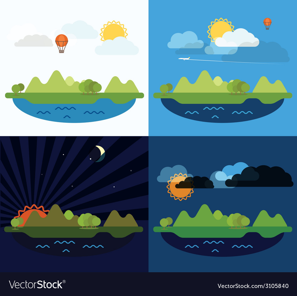 Summer seaside vacation vector | Price: 1 Credit (USD $1)