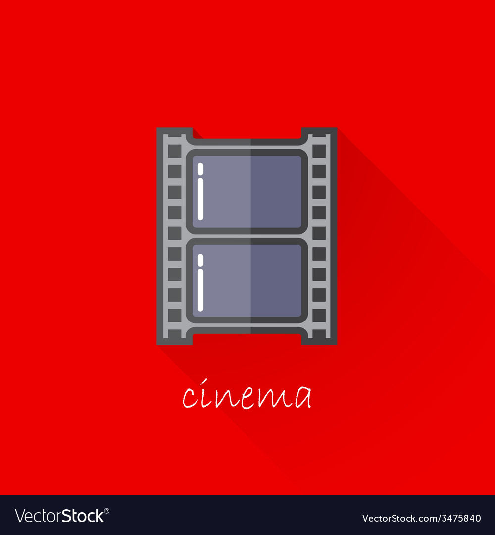 Vintage of a film strip in flat style with long vector | Price: 1 Credit (USD $1)