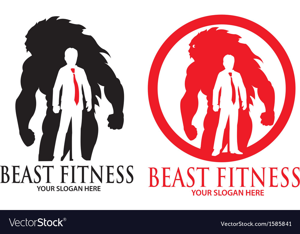 Beast fitness logo vector | Price: 1 Credit (USD $1)
