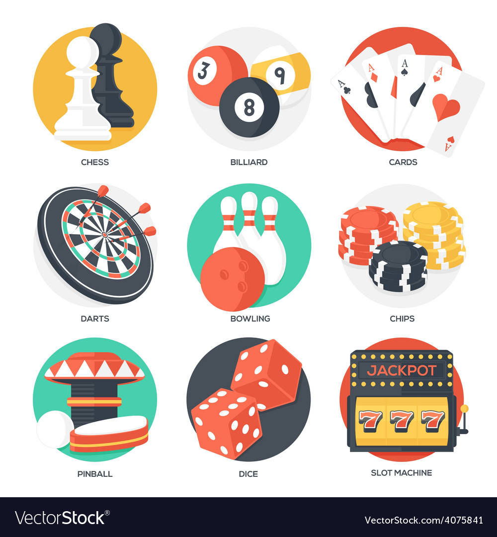 Casino sport and leisure games icons vector | Price: 1 Credit (USD $1)