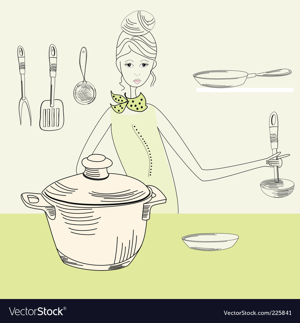 Cook woman vector | Price: 1 Credit (USD $1)