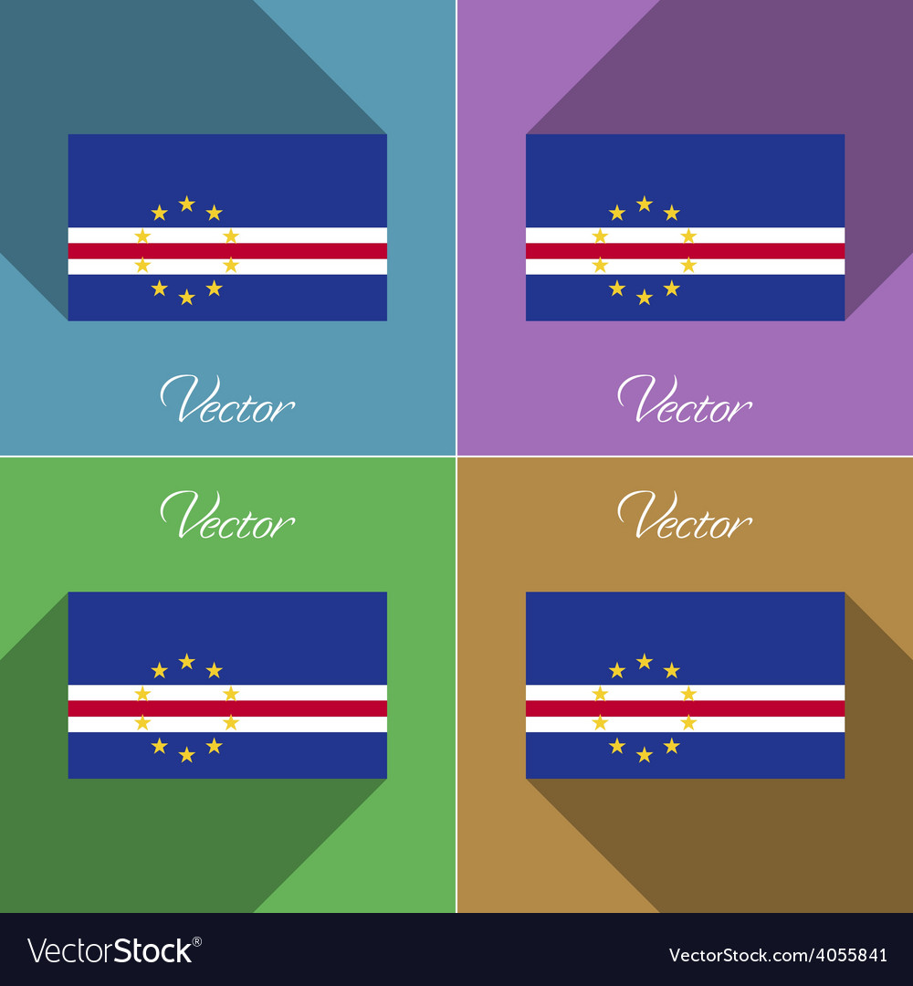 Flags cape verde set of colors flat design and vector | Price: 1 Credit (USD $1)