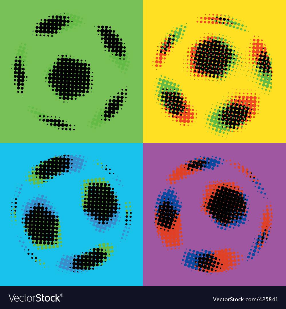 Football soccer balls vector | Price: 1 Credit (USD $1)