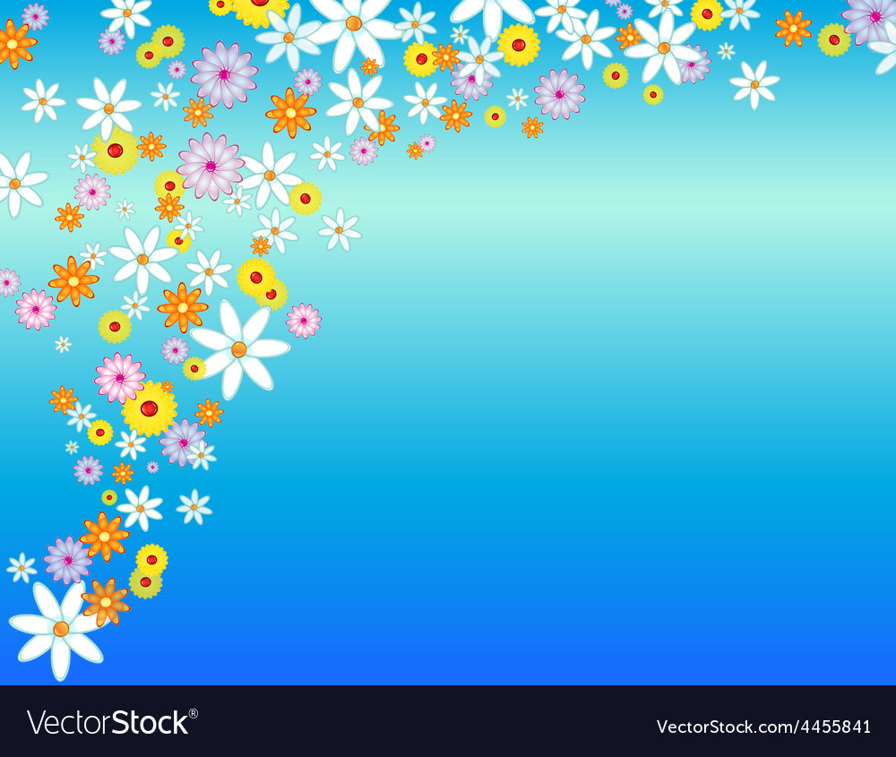 Glossy flower background vector | Price: 1 Credit (USD $1)