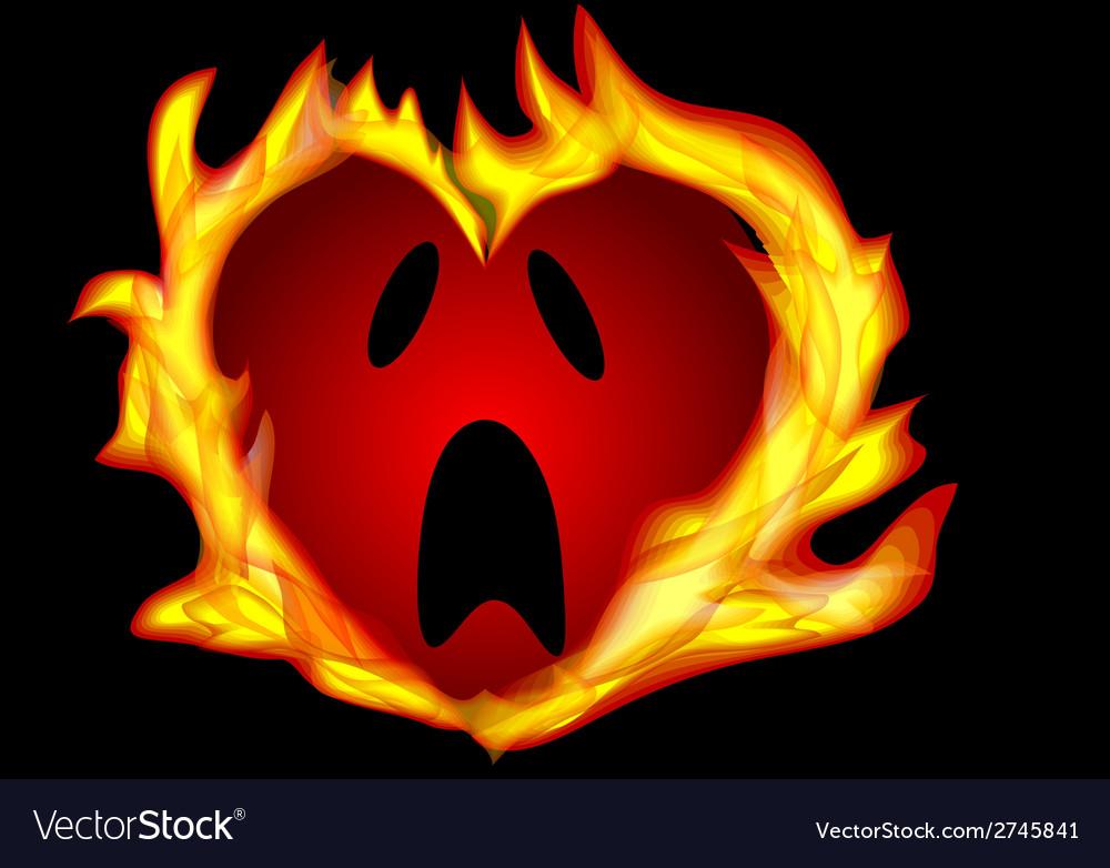 Heart burning vector | Price: 1 Credit (USD $1)