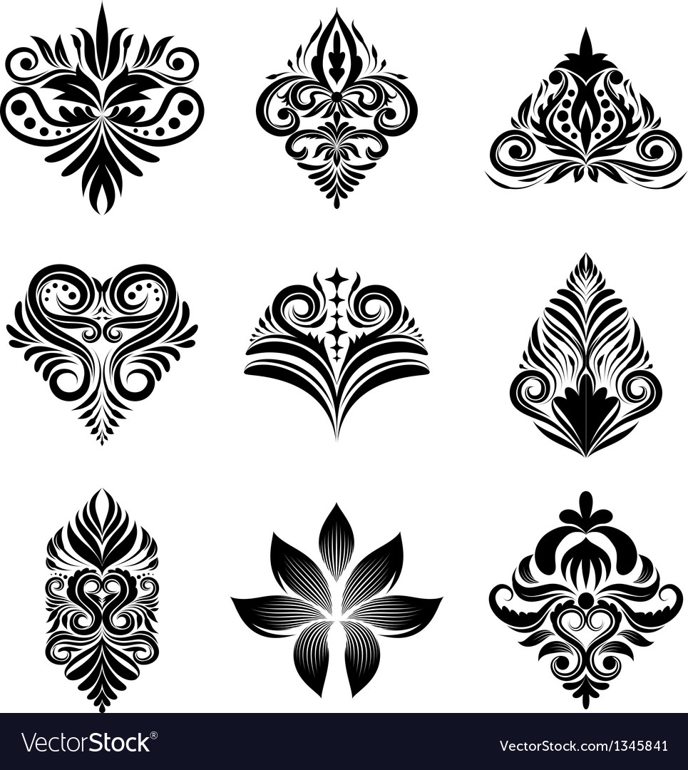 Icon ornamental set vector | Price: 1 Credit (USD $1)