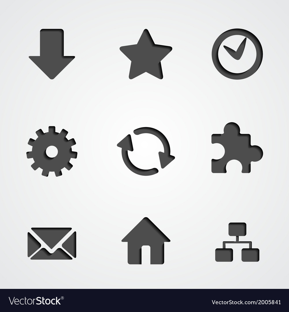 Internet icon collection vector | Price: 1 Credit (USD $1)