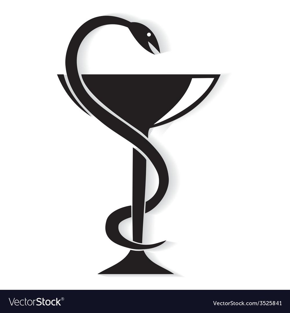 Pharmacy symbol medical snake vector | Price: 1 Credit (USD $1)