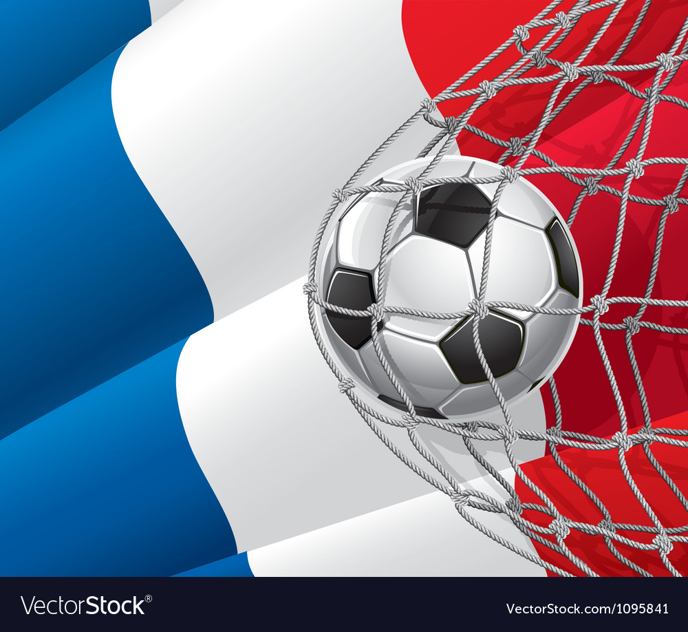 Soccer goal and france flag vector | Price: 1 Credit (USD $1)