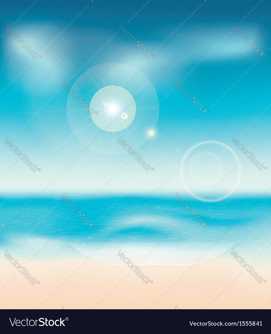 Sunny summer beach vector | Price: 1 Credit (USD $1)