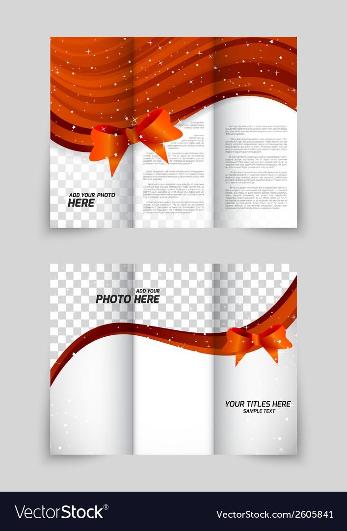 Tri-fold christmas brochure vector | Price: 1 Credit (USD $1)