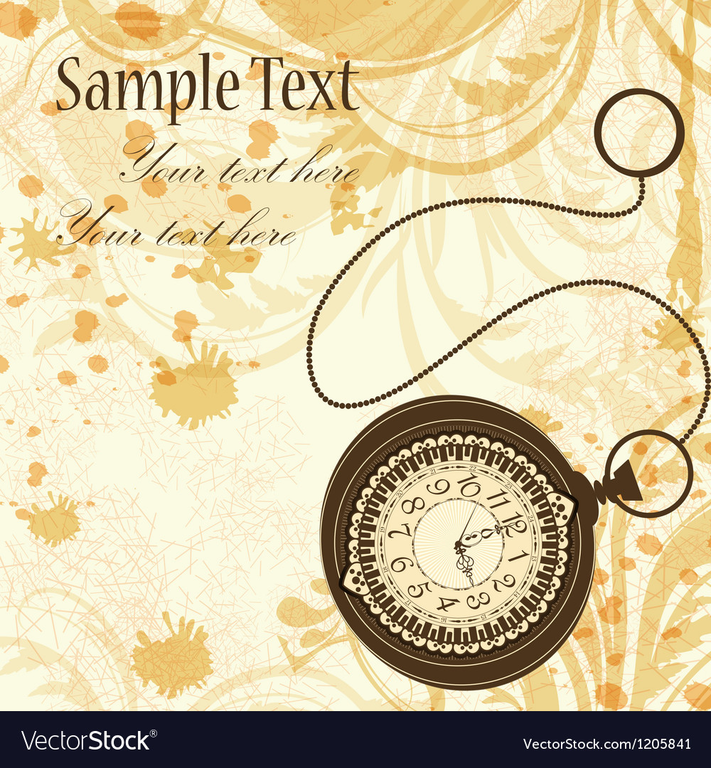 Vintage background with pocket watches vector | Price: 3 Credit (USD $3)