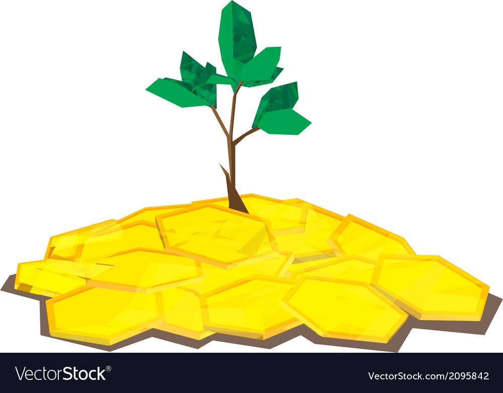 Coin tree polygon vector | Price: 1 Credit (USD $1)