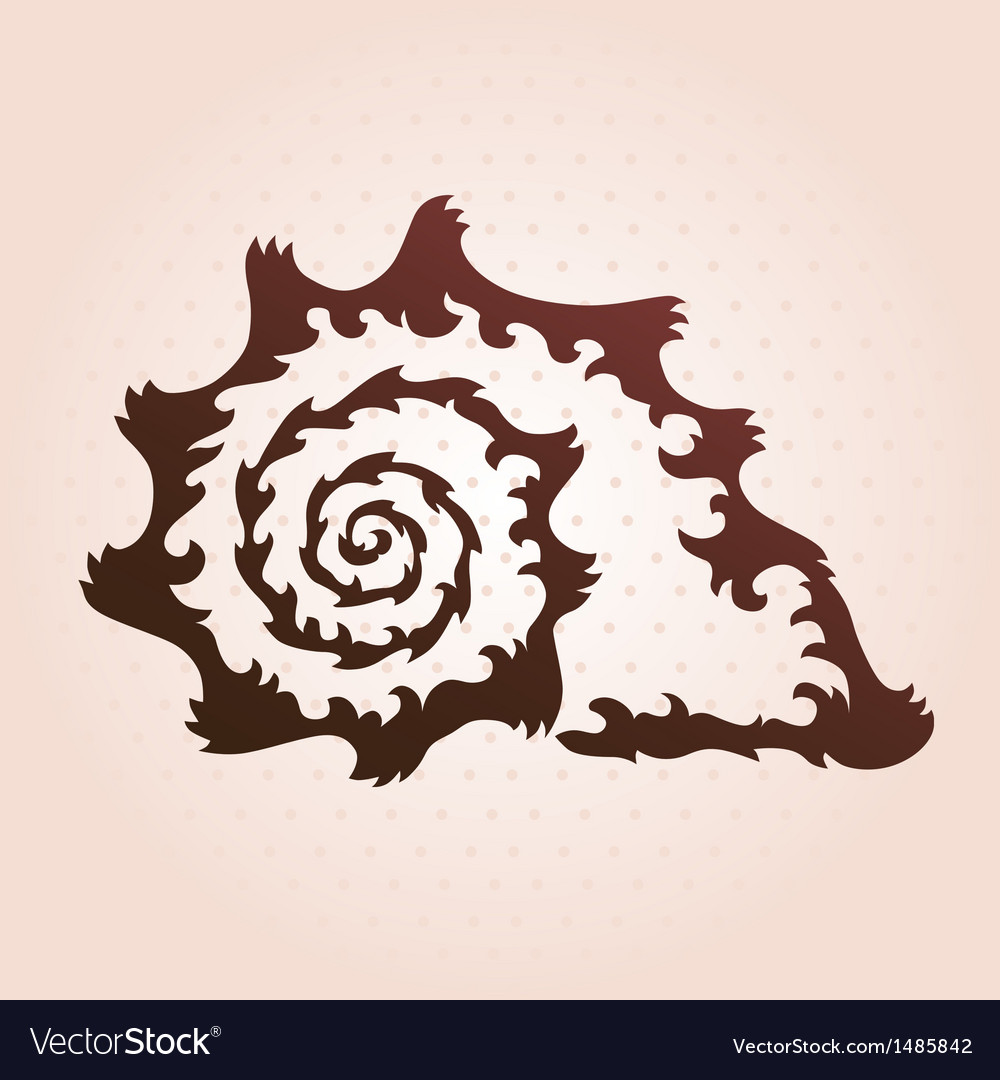Decorative seashell vector | Price: 1 Credit (USD $1)