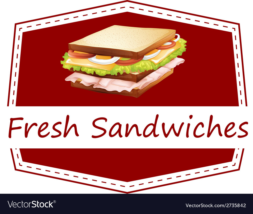 Fresh sandwiches vector | Price: 1 Credit (USD $1)
