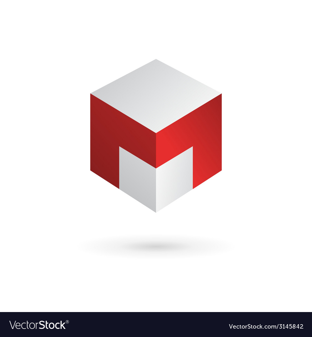 Letter m cube logo icon design template elements vector | Price: 1 Credit (USD $1)