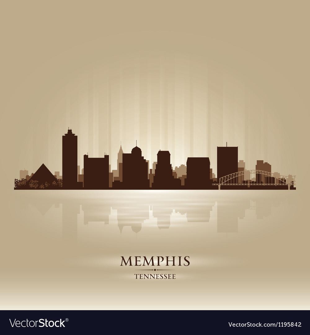 Memphis tennessee skyline city silhouette vector | Price: 1 Credit (USD $1)