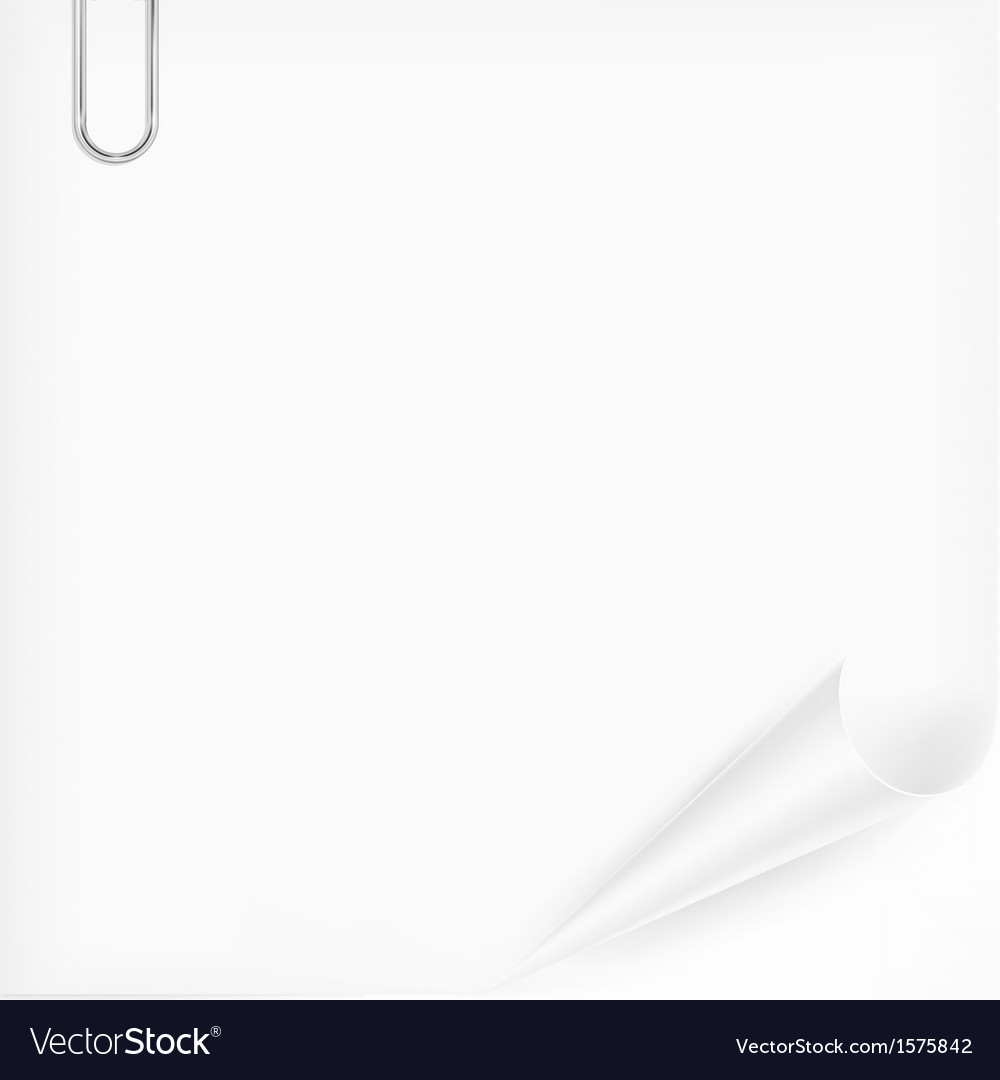 Metallic clip on paper sheet vector | Price: 1 Credit (USD $1)